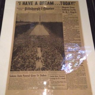 """Martin Luther King gave his """"I have a Dream"""" speech"""