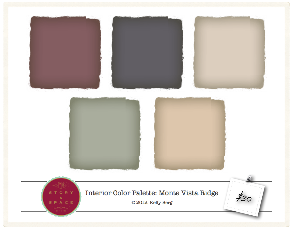 Monte Vista Ridge   Interior Color Palette   $30