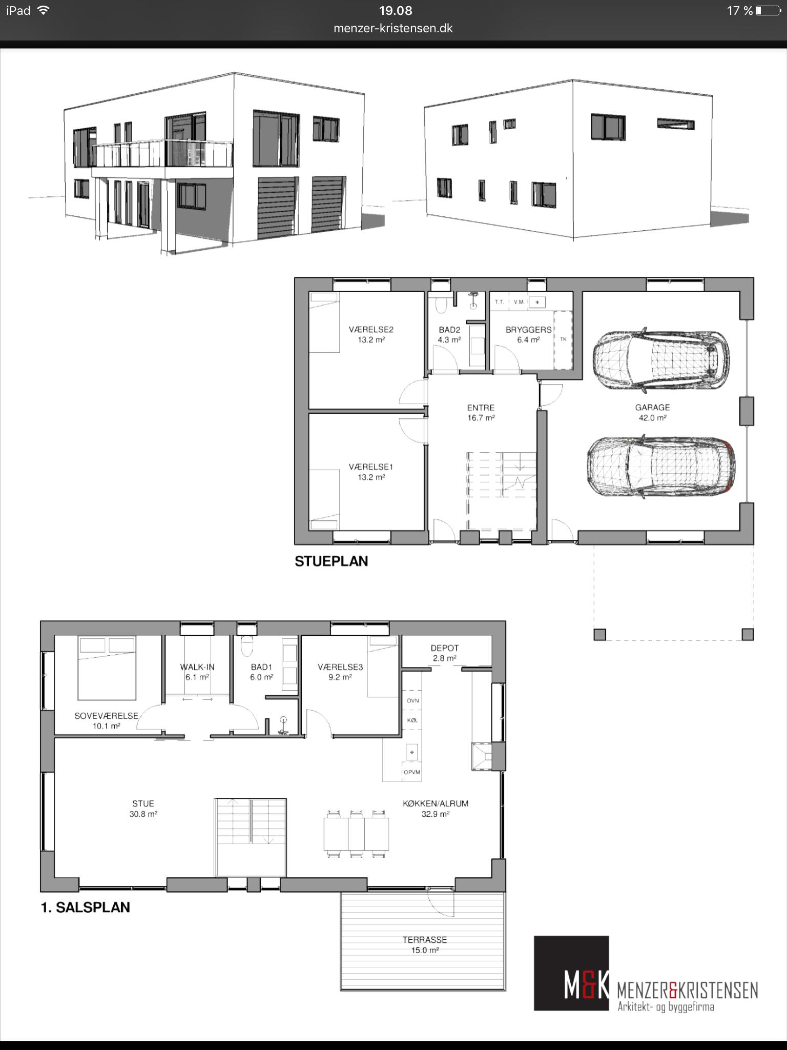 Plantegning Med Garage Plantegninger Planner Huse