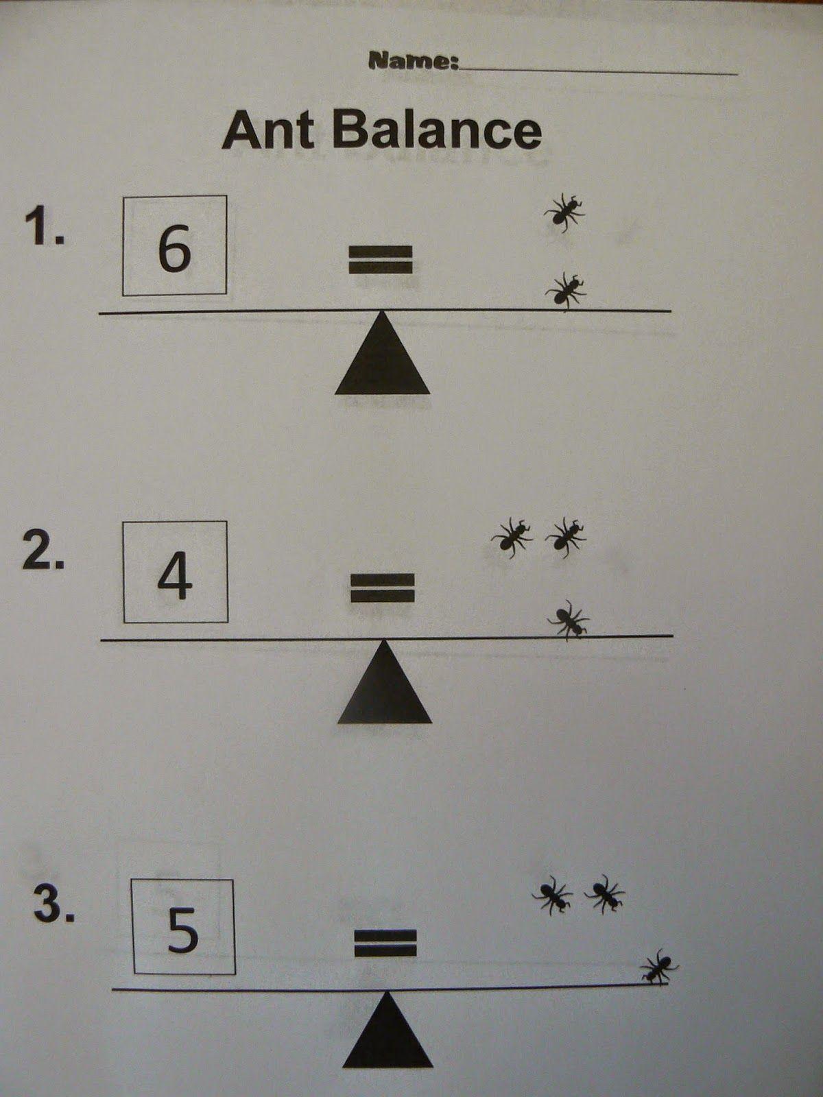 Mrs T S First Grade Class Ant Balance