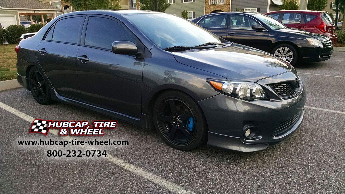 2013 Toyota Corolla S With All Black Msr 091 Wheels Lowered 2 Inches W Blue Brake Calipers Toyota Corolla Corolla Toyota