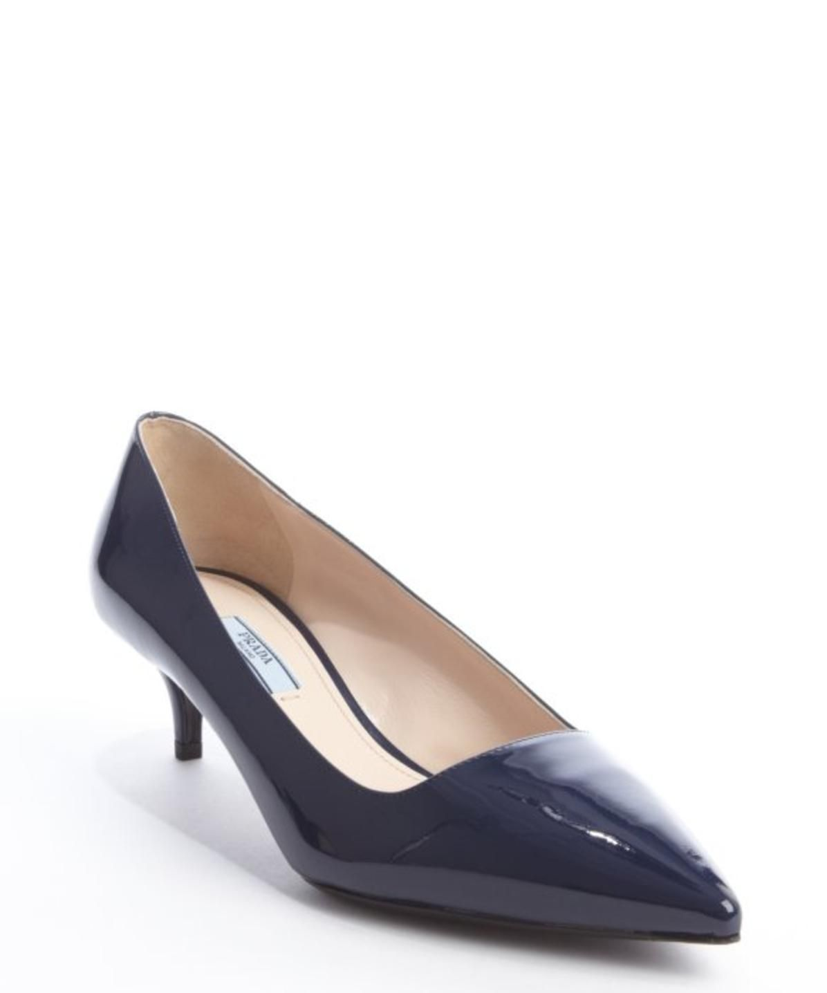 royal blue patent leather point toe kitten heel pumps http   picvpic.com