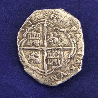Spain 8 Reales Cob Coin 1632 Obv Struck Under Felipe IV 1621 1665