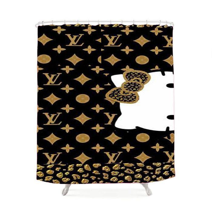 Louis Vuitton Hello Kitty Shower Curtain