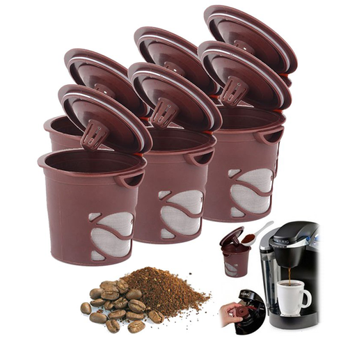 6Pack Reusable Single Brew Coffee Pods Coffee brewing