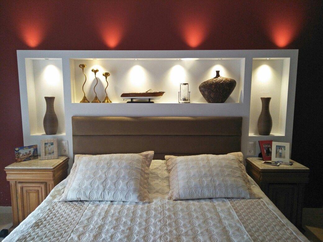 Placo Tete De Lit tête de lit en plco plâtre | tête de lit placo, déco chambre
