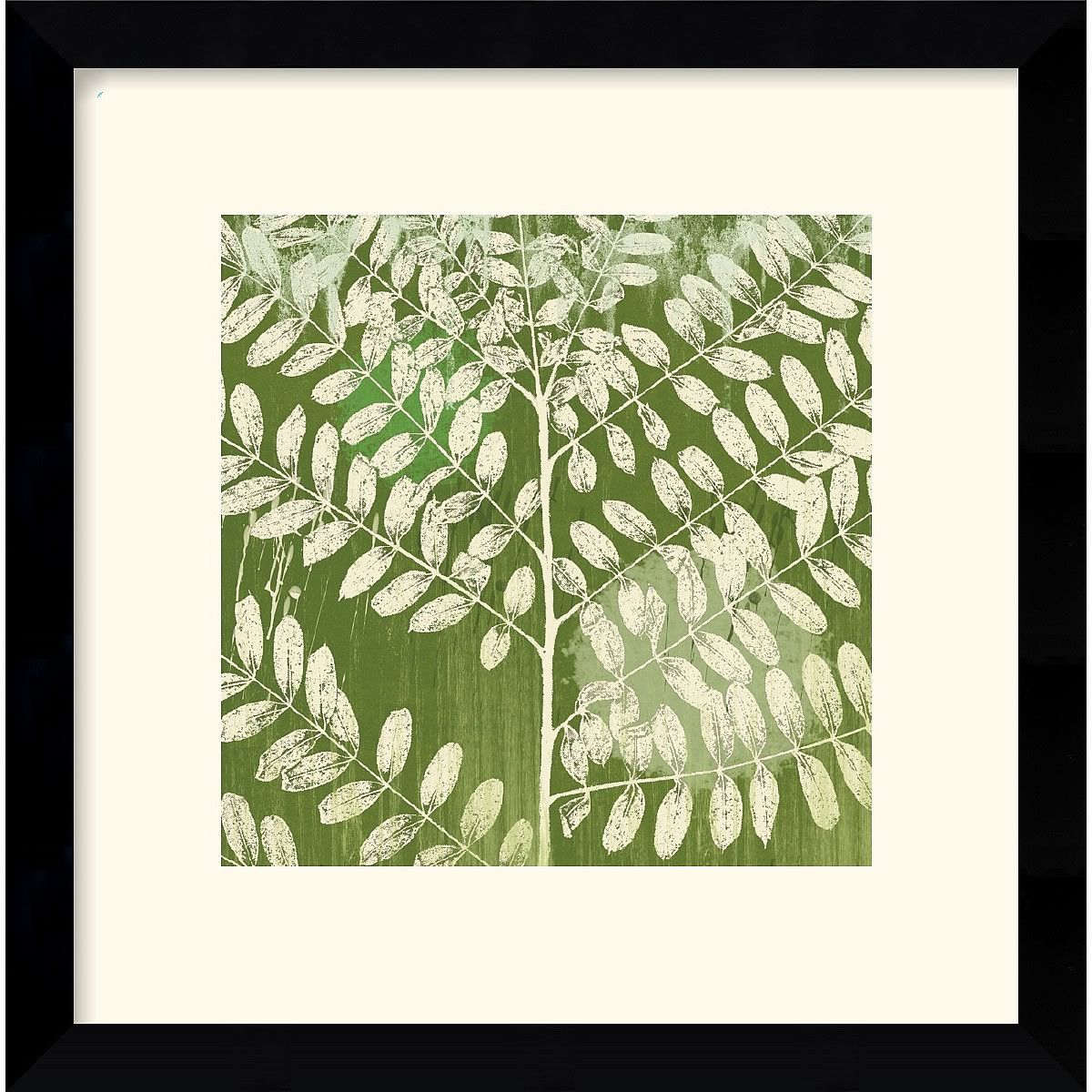 13x13 inch Erin Clark Forest Leaves Framed Print   Products ...