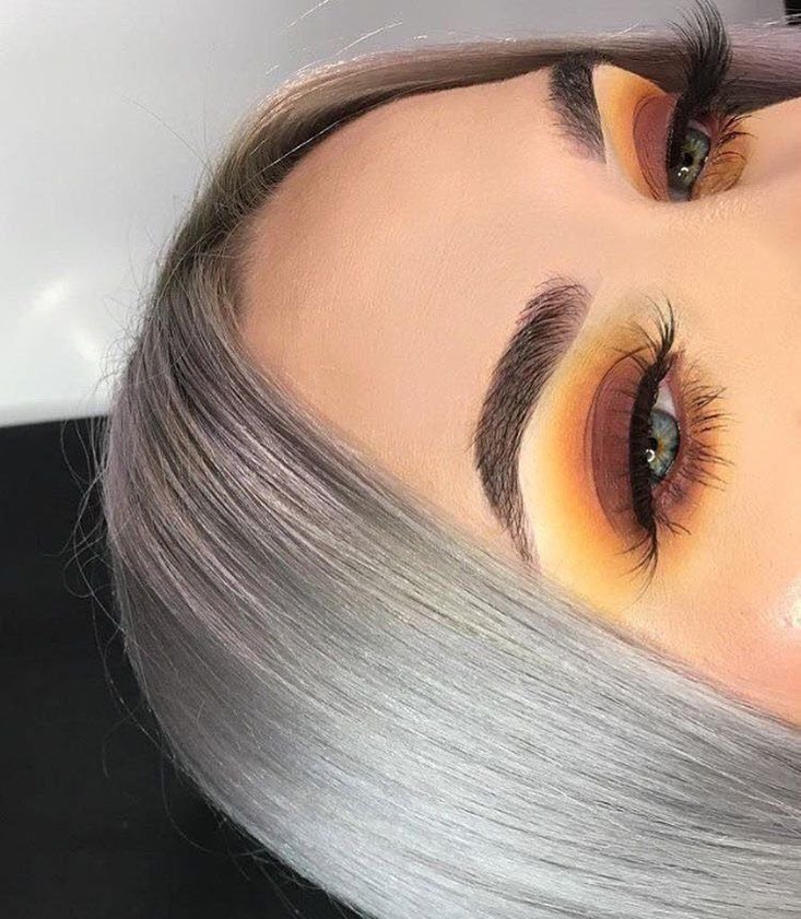 Yellow brown eyeshadow makeup. Follow for more. Pinterest