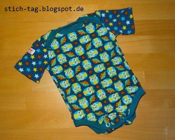 Ein süßer Body aus Eulenquartett. genäht von: stich-tag.blogspot.de