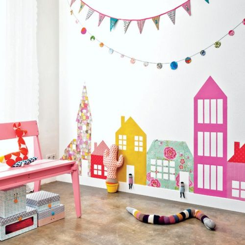 babyzimmer komplett gestalten girlanden ketten wand kinderzimmer creative kids rooms kids. Black Bedroom Furniture Sets. Home Design Ideas