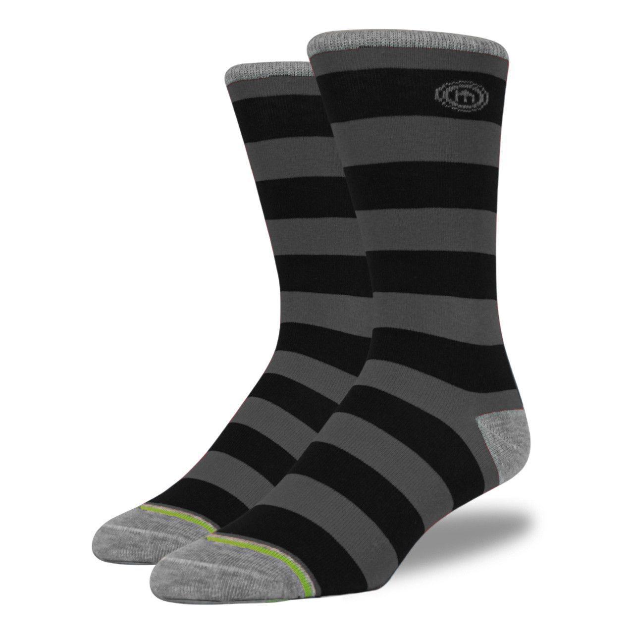 Black & Gray Striped Socks