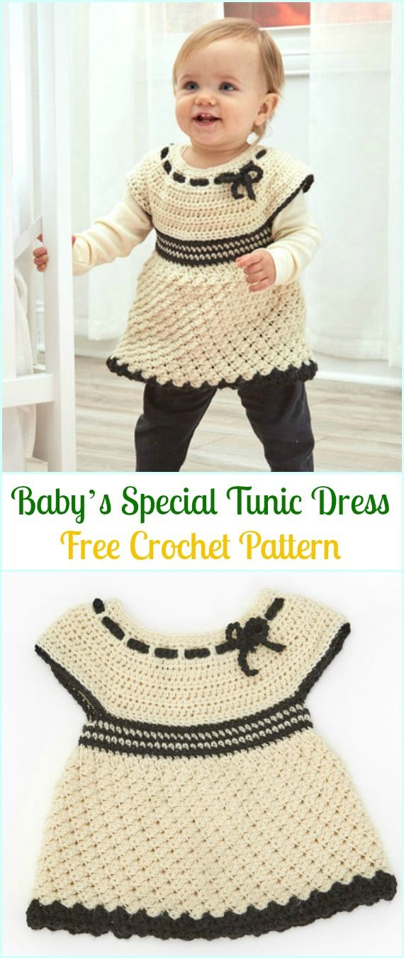 Crochet Baby\'s Special Tunic Dress Free Pattern- #Crochet Girls ...