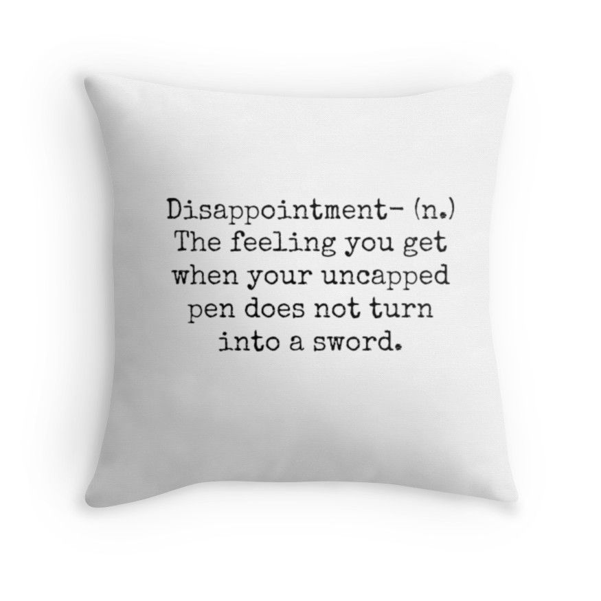 Percy Jackson Disappointment | Throw Pillow images