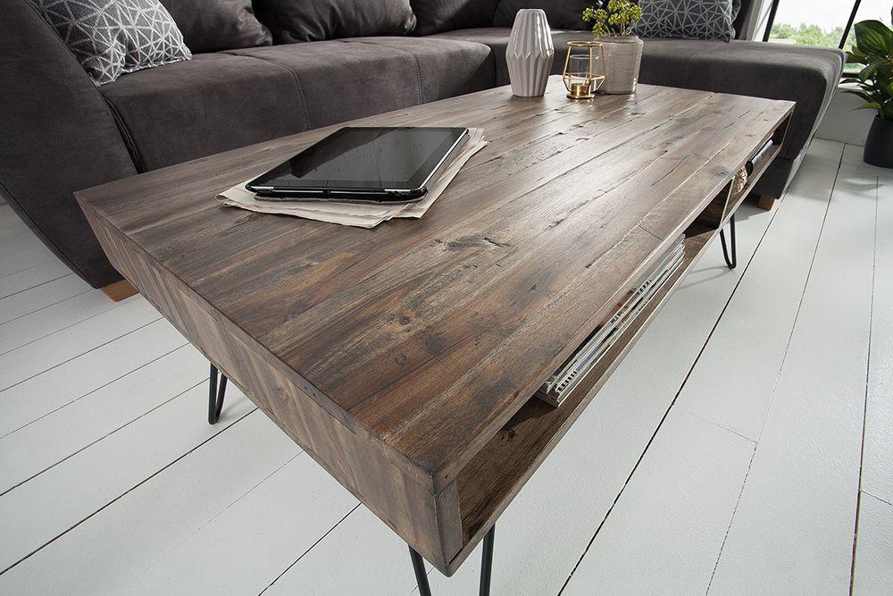 Handgearbeiteter Couchtisch Scorpion 110cm Akazie Hairpin Legs Riess Ambiente De Table Home Decor Decor
