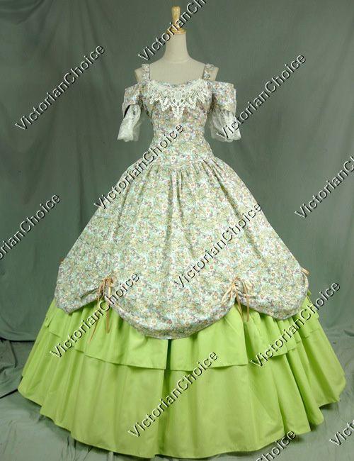 Victorian Civil War Dress Ball Gown Prom Reenactment Clothing ...