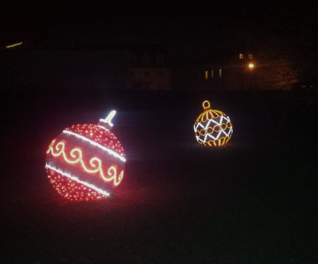 Jumbo Christmas Ball Ornaments Glowing in the Dark | Sparkling ...