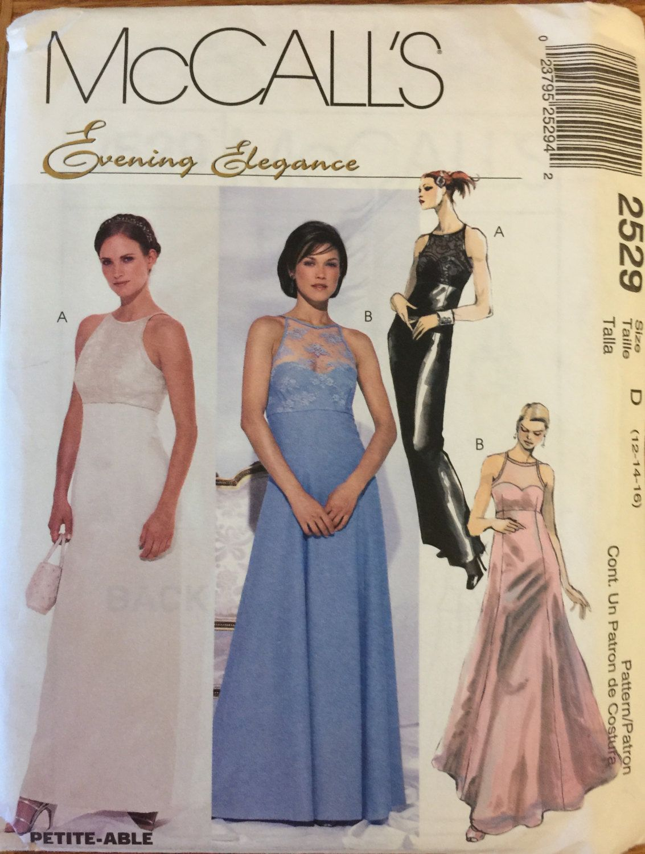 Oop 2529 Mccalls 1999 Evening Elegance Etsy Formal Dress Patterns Full Skirt Dress Evening Gown Pattern [ 1500 x 1133 Pixel ]