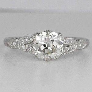 engagement diamond rings in antique style - Vintage Style Wedding Rings