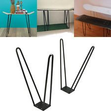 Coffee Table Skateboard Hairpin Legs 17 Set Of Two 10mm Solid Iron Bar W Screw Ebay Modern Table Legs Coffee Table Legs Metal Hairpin Coffee Table