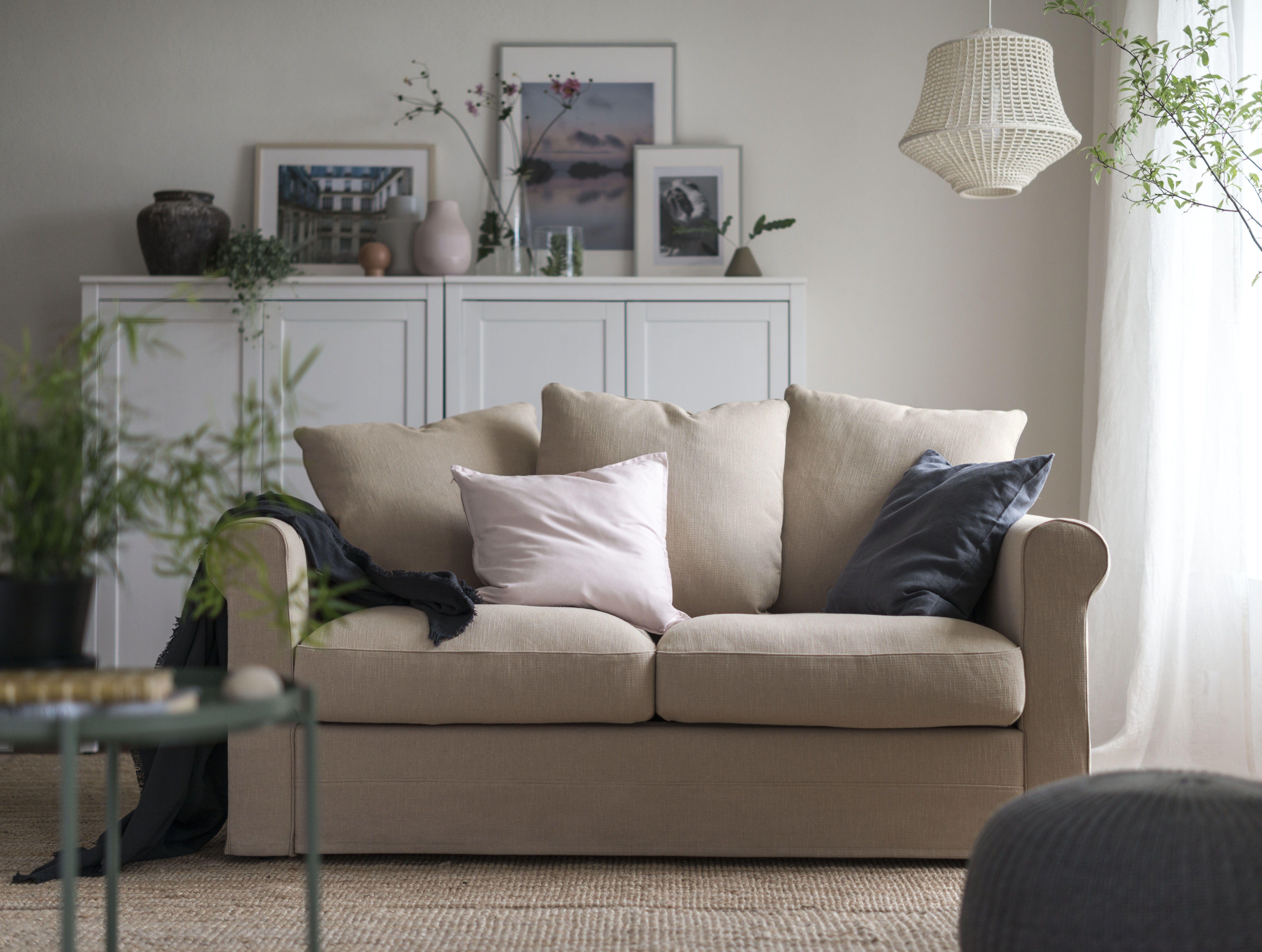 GrÖnlid 2 zitsbank sporda naturel grÖnlid living room sofa en ikea