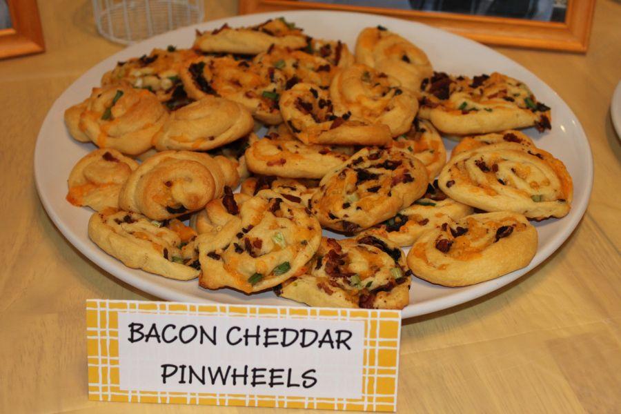 Bacon cheddar pinwheels bacon cheddar food easy snacks