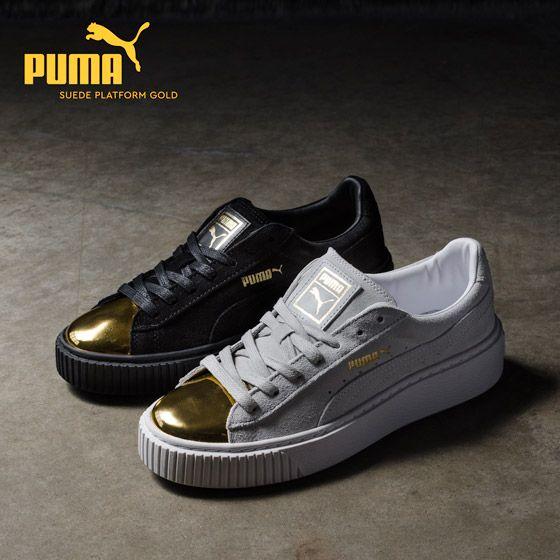 Puma Basket Platform Black And Gold