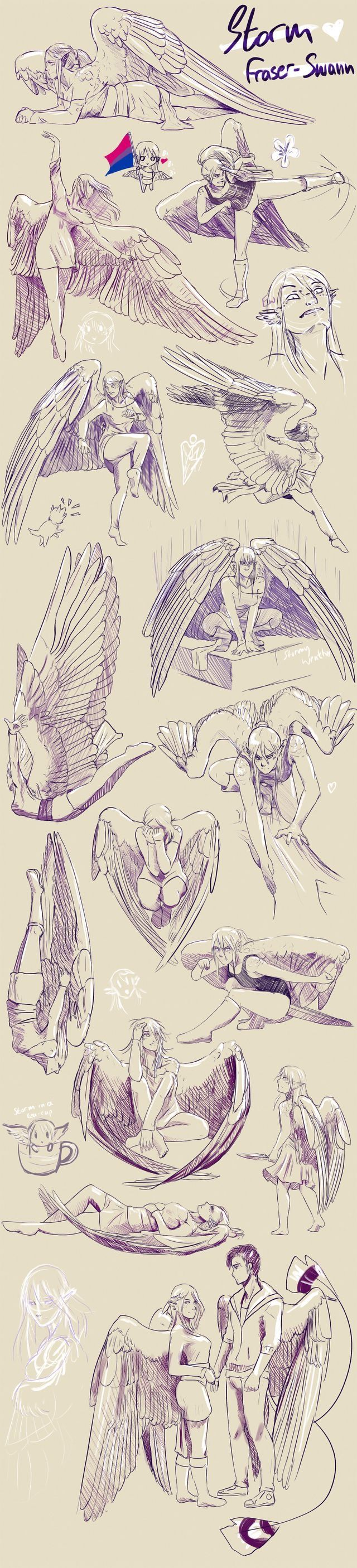 Wings My Favorite Art Reference Poses Art Reference Drawings