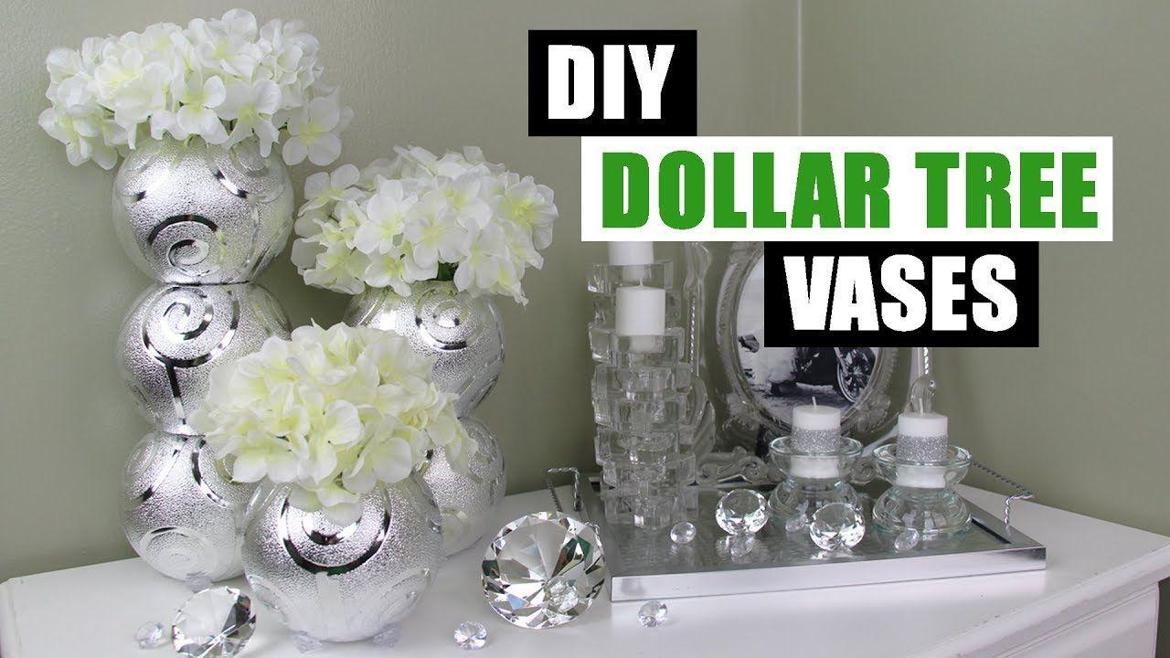 Diy dollar tree glam vases diy floral home decor diy
