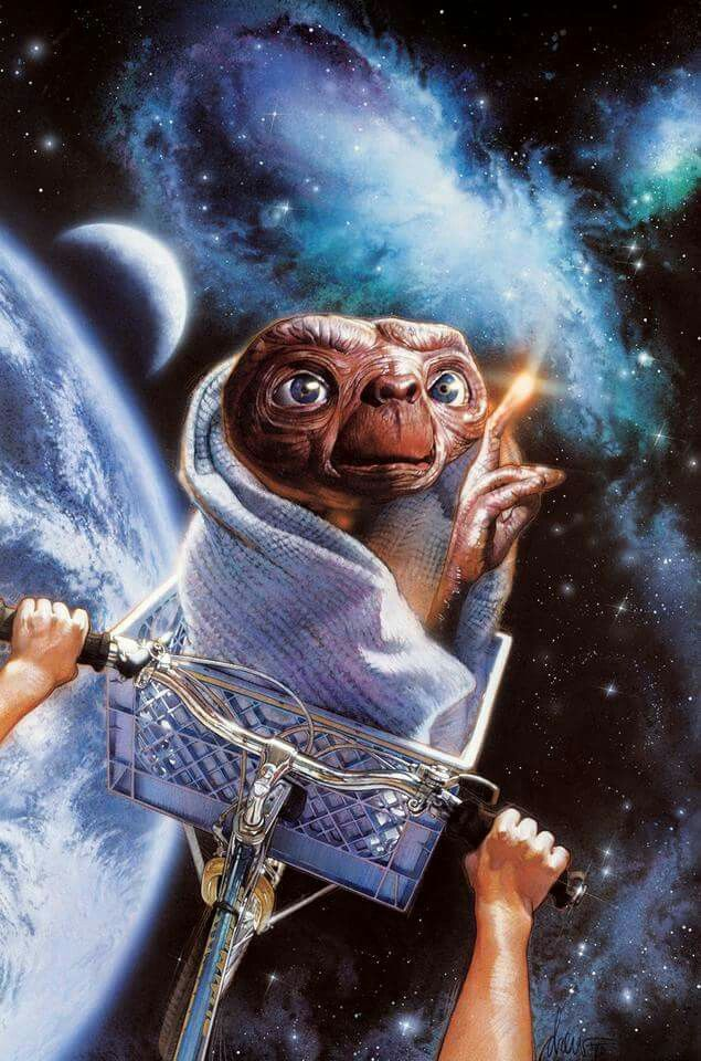 E T The Extra Terrestrial 1982 Movie Poster Art Movie Art Movie Posters