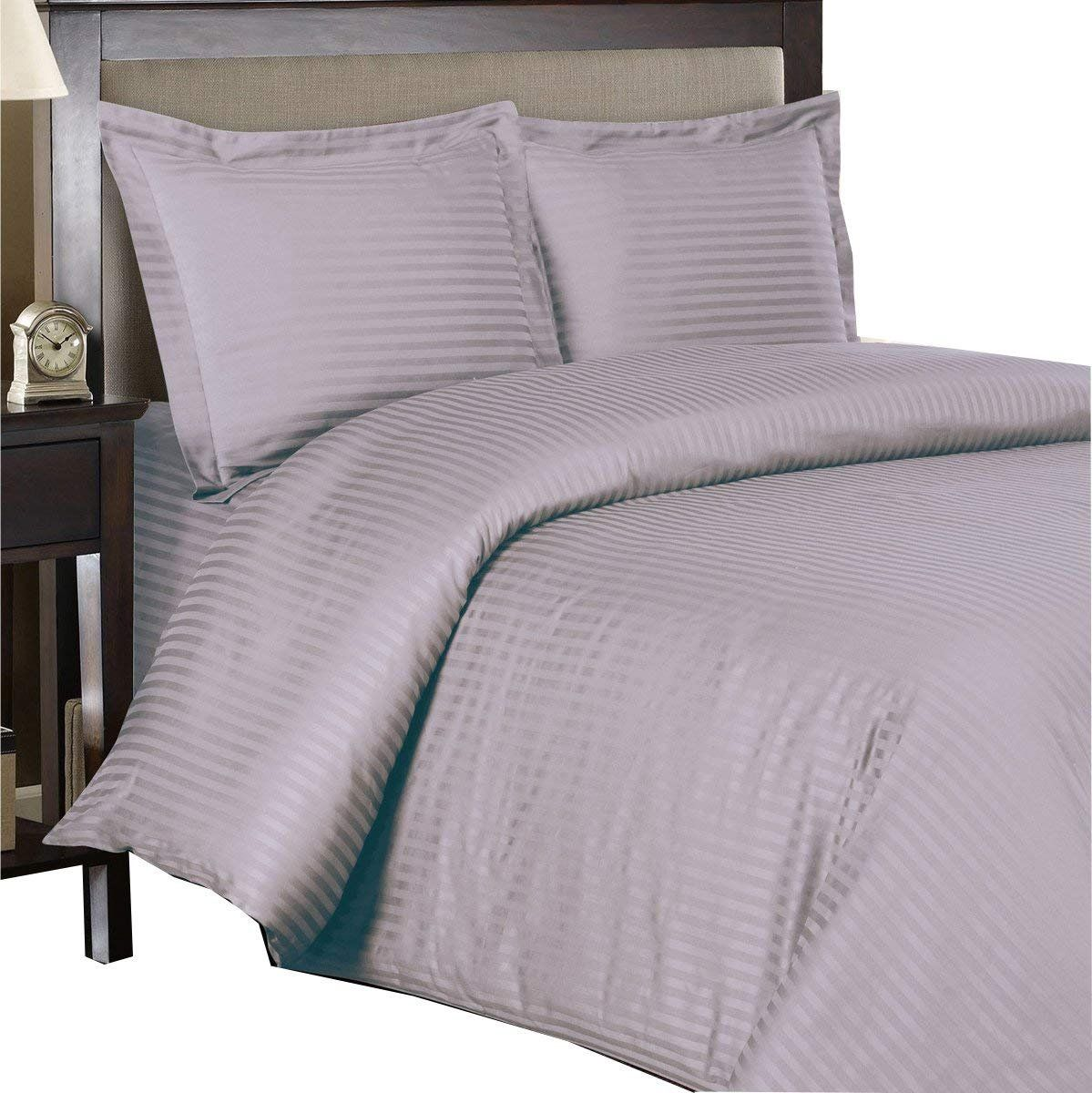 Royal Hotel S 8pc Queen Size Bed In A Bag Striped Lilac
