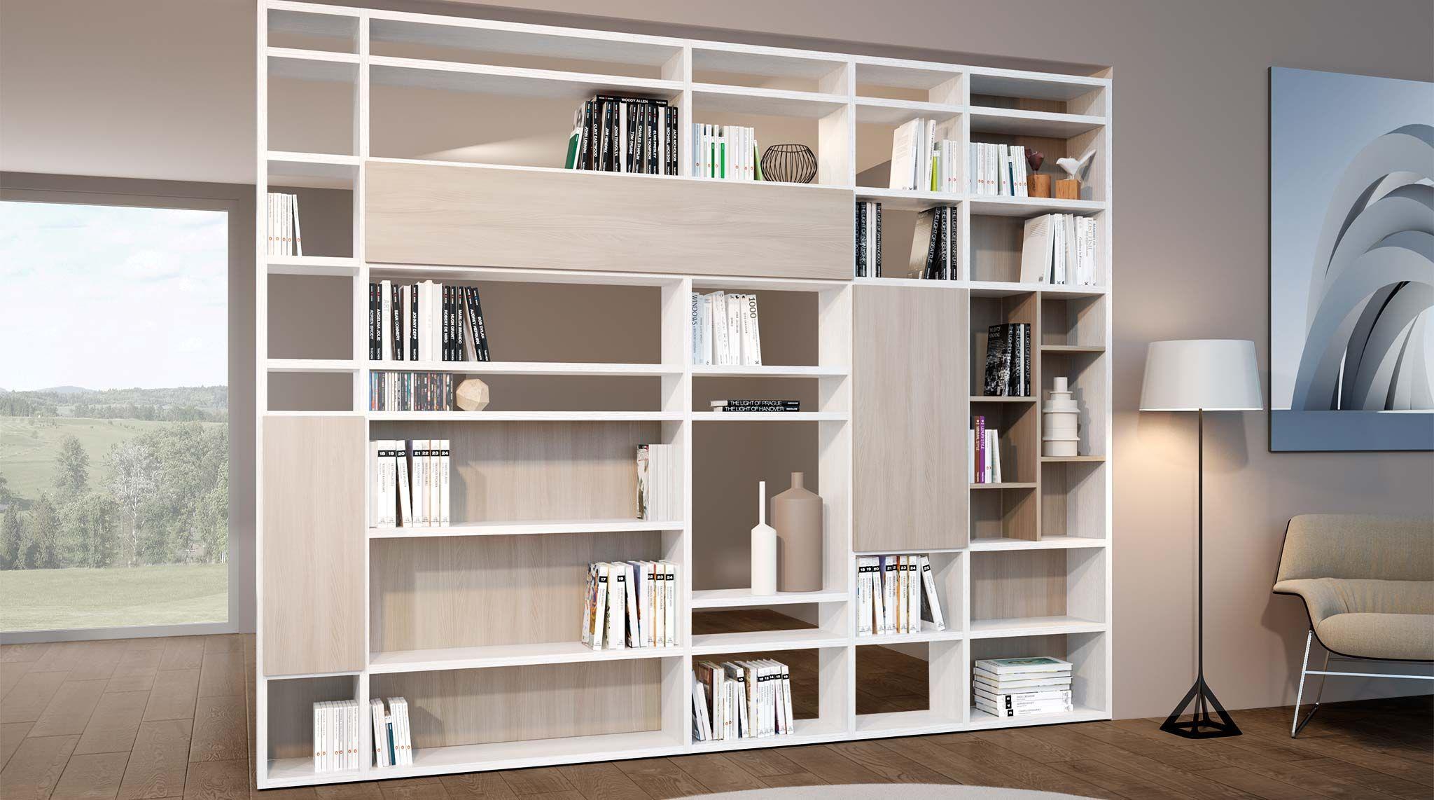 Libreria bifacciale componibile systema b sololibrerie for Mobili design vendita online