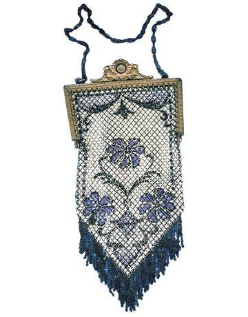 circa 1898, Mandalian mesh purse