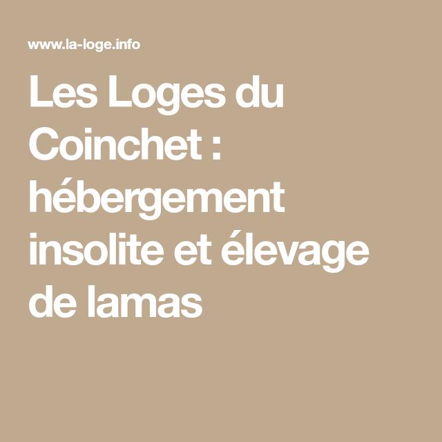 Les Loges du Coinchet : hébergement insolite et élevage de lamas