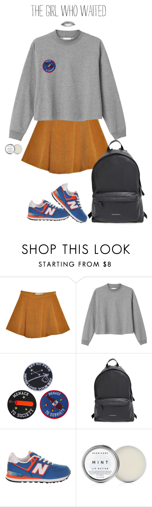 """""""and I will give you all my heart"""" by shiri010 ❤ liked on Polyvore featuring Monki, Givenchy, New Balance and Study"""
