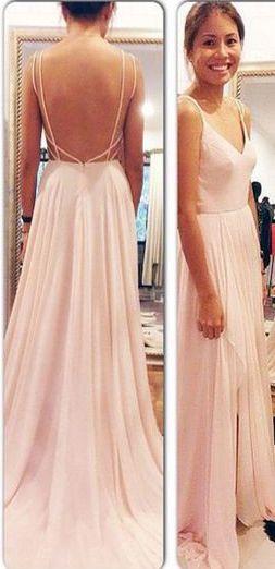 Vestiti Eleganti Lunghi Per Ragazze.Backless Spaghetti Straps Prom Dresses Floor Length Evening