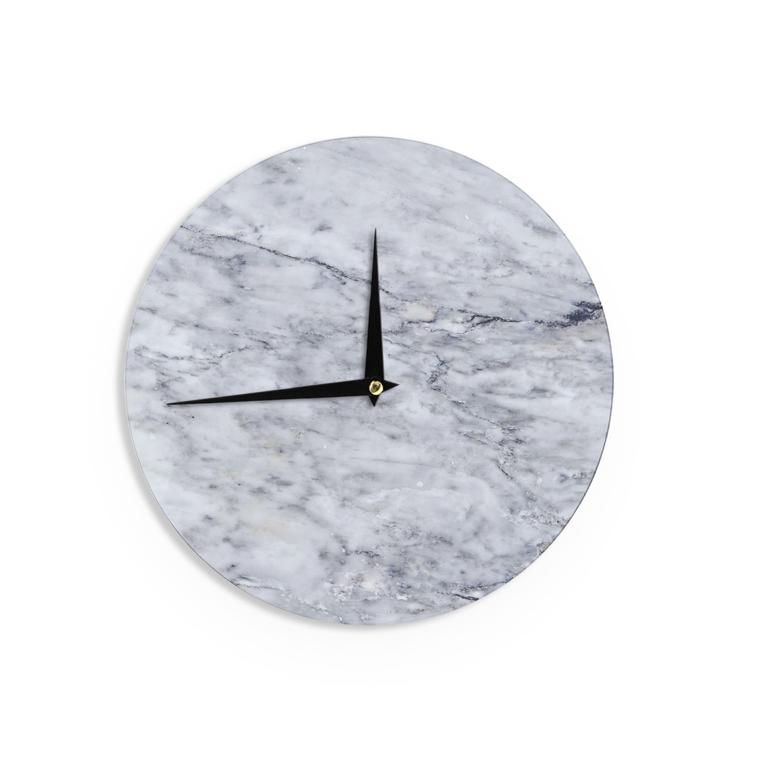 Kess inhouse chelsea victoria marble blue black wall clock kess inhouse chelsea victoria marble black wall clock amipublicfo Image collections