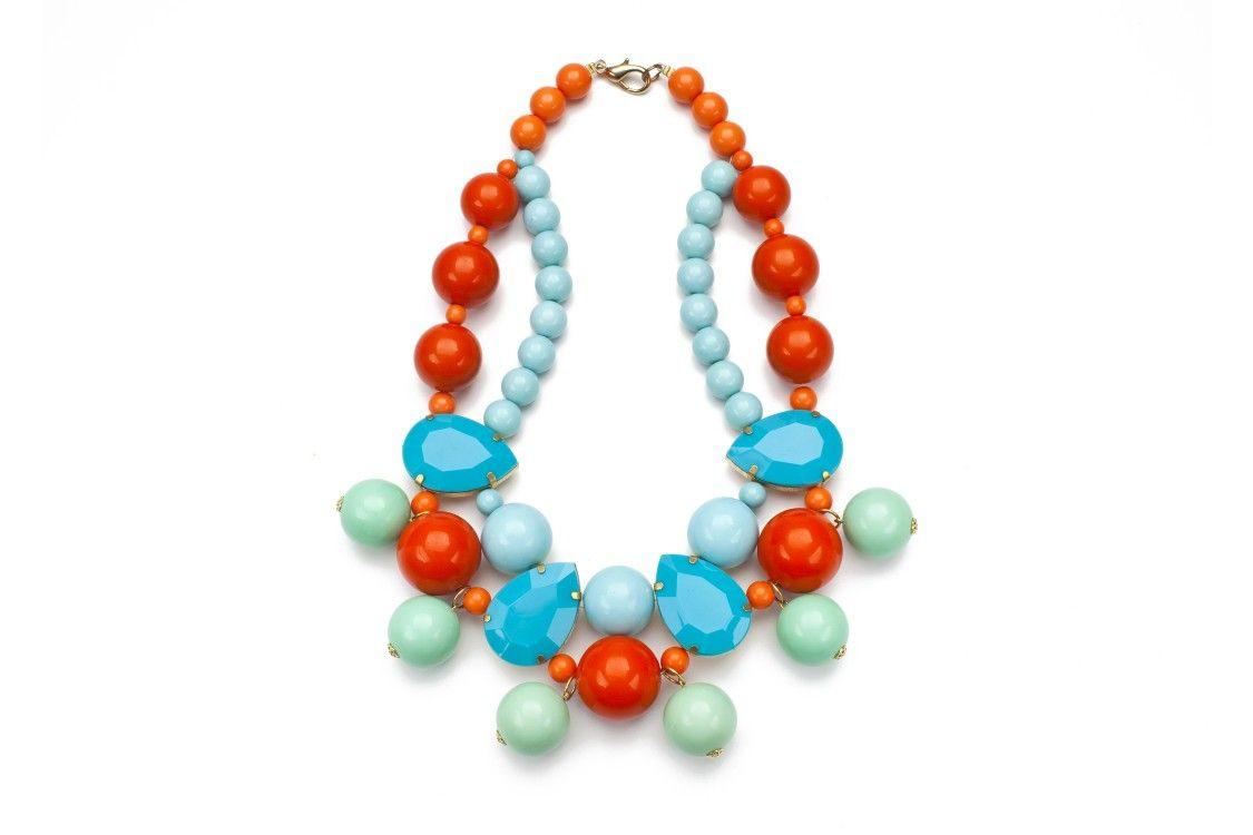 Zanzibar Bauble Necklace - Poppy