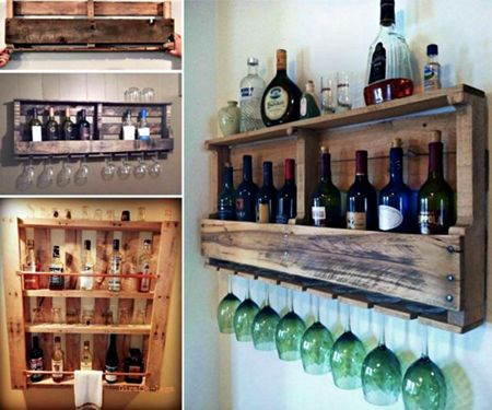 Superb DIY Home Bar Reusing Old Pallets