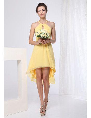 Sexy Sheath Short Chiffon Bridesmaid Dresses For Summer Beach Wedding