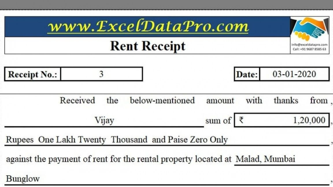 Get Our Image Of Rental Income Receipt Template Receipt Template Rental Income How To Get Money