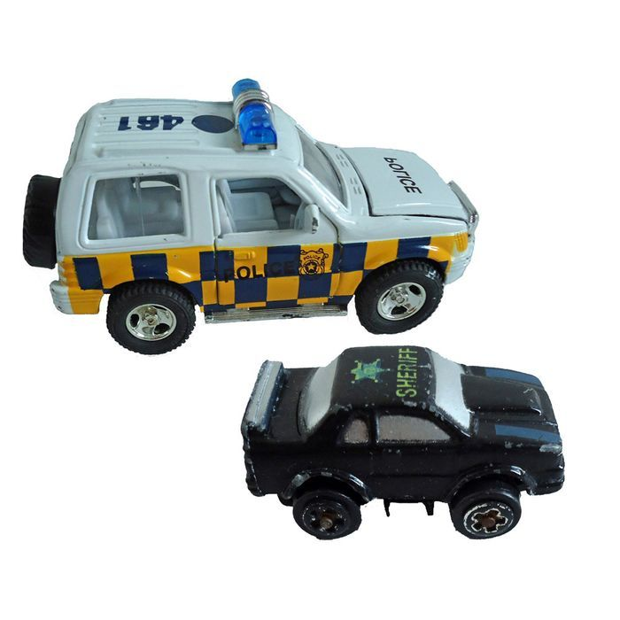 Collectors Cars Micro Machines Road Champs Sheriff Car Police Jeep ...