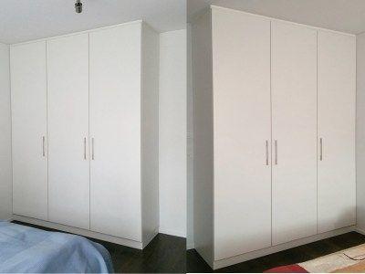Weiße Einbauschränke Im Schlafzimmer Auf Maß Für Einen Kunden - Einbauschranke schlafzimmer