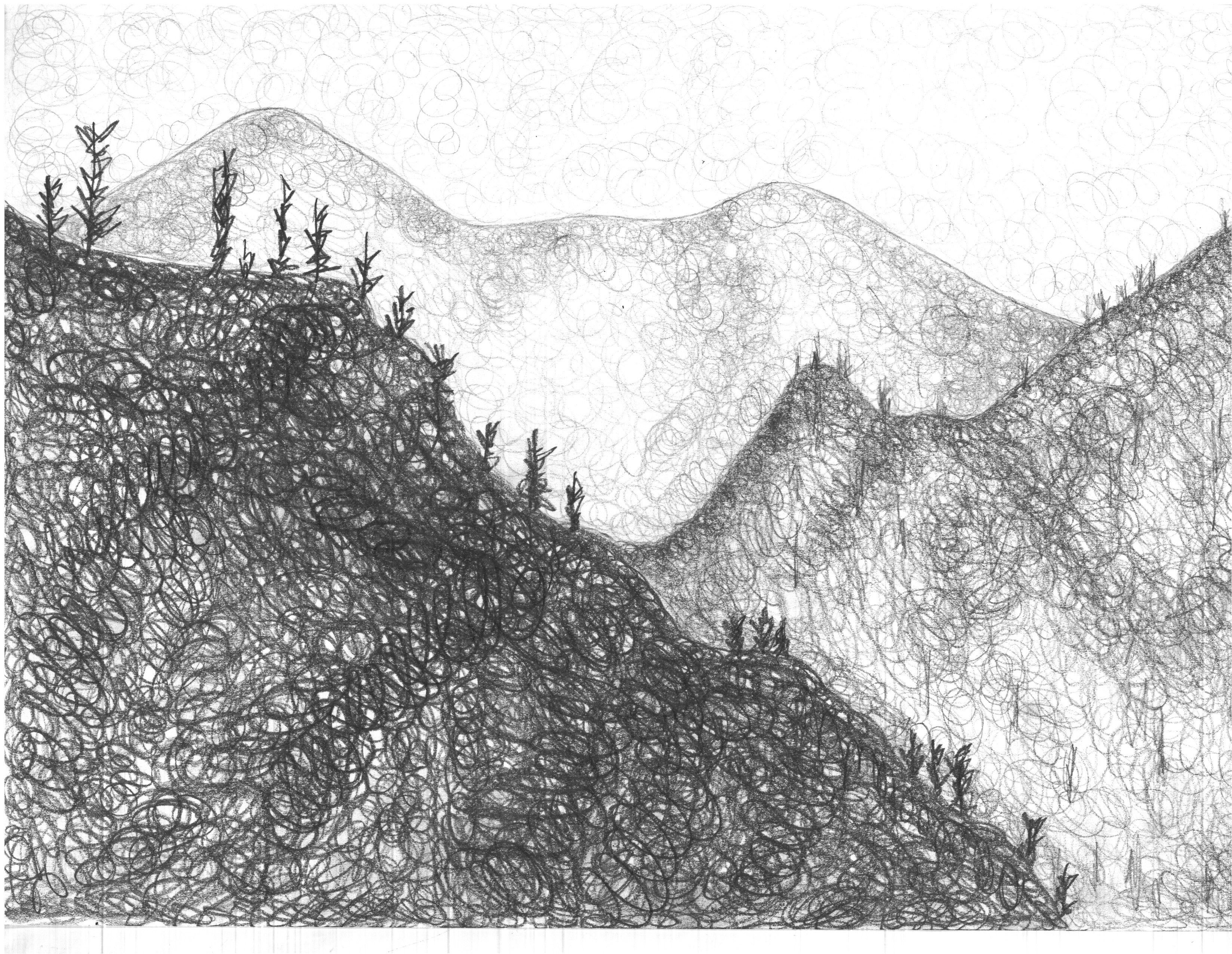 Atmospheric Perspective Technique Hatching Scumbling