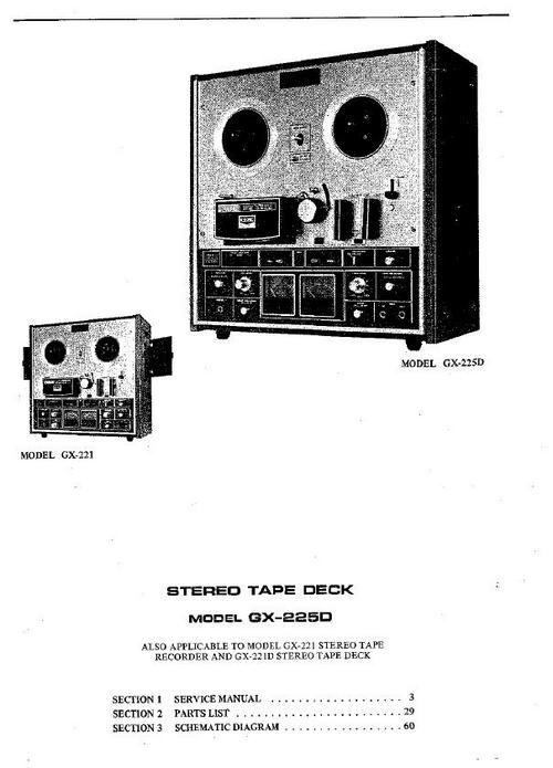 Akai GX225D reel to reel tape recorder Service Manual