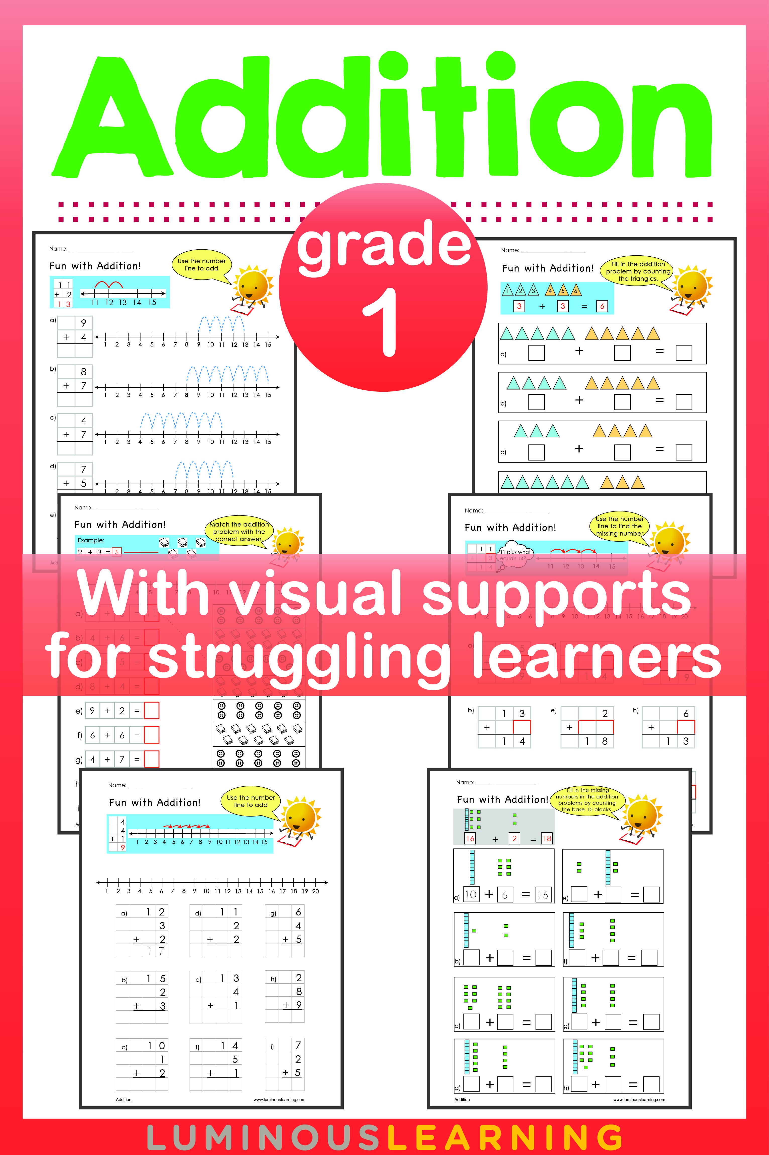 Luminous Learning Grade 1 Addition Workbook Provides Math