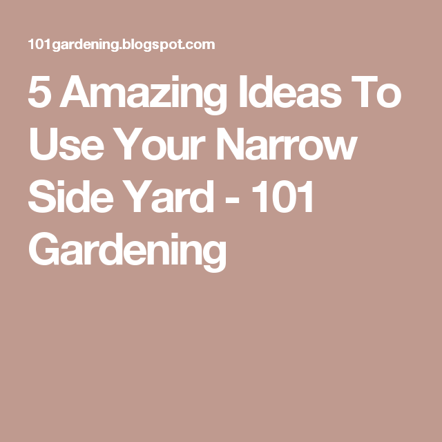 5 Amazing Ideas To Use Your Narrow Side Yard - 101 Gardening