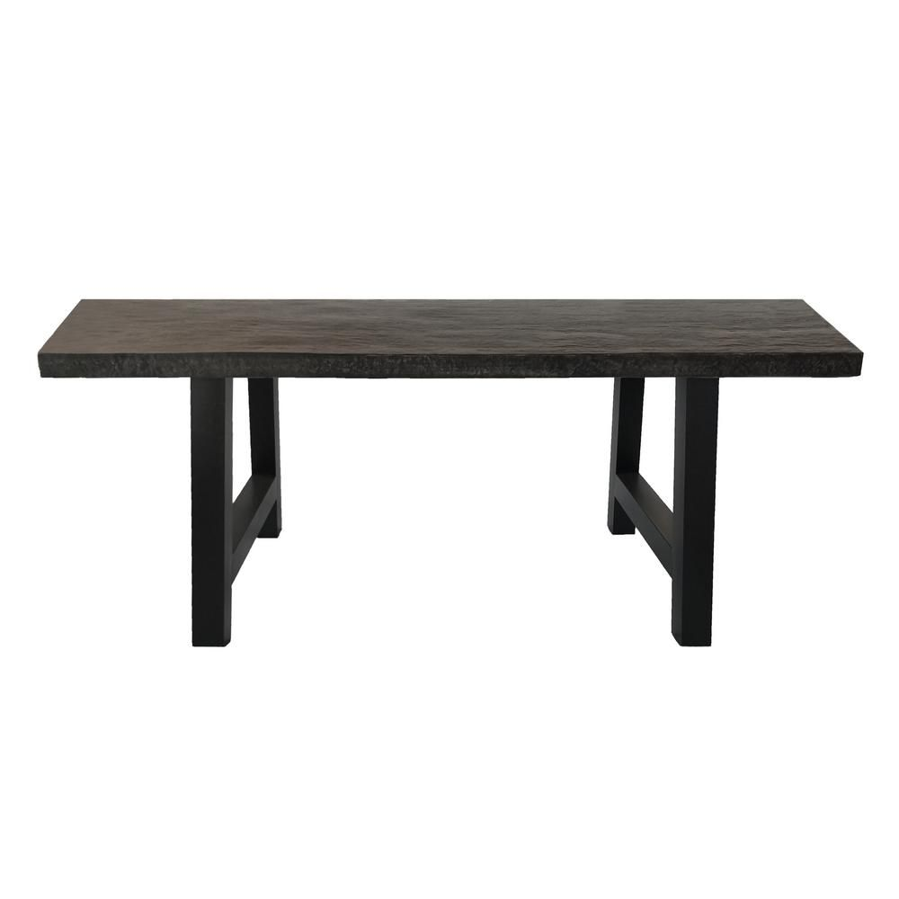 Noble House Rectangular Stone And Metal Outdoor Dining Table 41279 Outdoor Dinning Table Dining Table Outdoor Dining