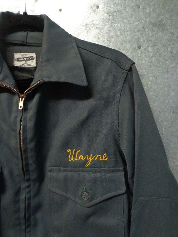 Vintage Men S Work Jacket Embroidered Wayne By Vintageomaha