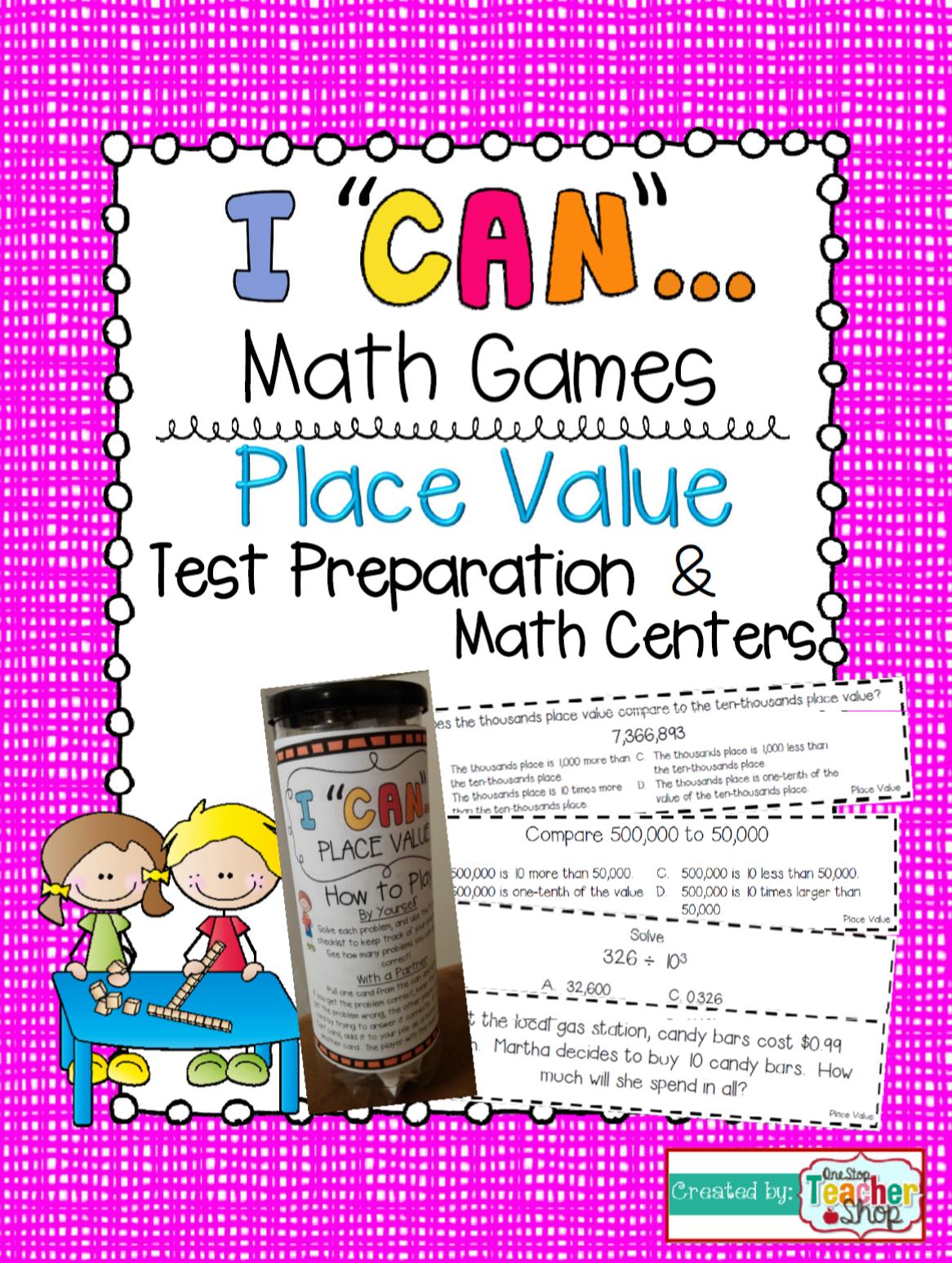 5th Grade Decimal Place Value Game