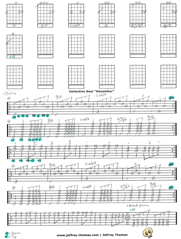 December By Collective Soul Just Finished Up The Guitar Tab For